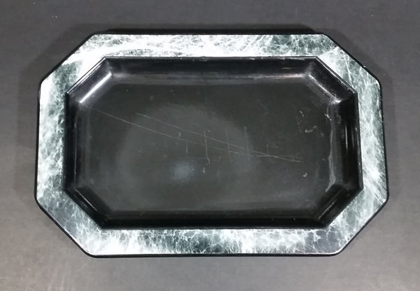 Plastic Black Marble Look Trinket Mints Coin Tray - Treasure Valley Antiques & Collectibles