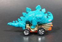 1998 Hot Wheels Speed-A-Saurus Stegosaurus Dinosaur Blue Turquoise Die Cast Toy Car Vehicle - Treasure Valley Antiques & Collectibles
