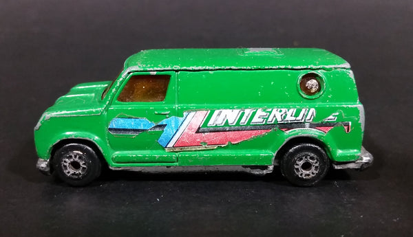 Vintage 1970s Kidco Tough Wheels Super Vans Interline Green Van 1/60 Die Cast Toy Car Vehicle - Treasure Valley Antiques & Collectibles