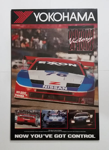 "Rare 1994 Yokohama Rolex Daytona 24 Hours Victory Nissan 300ZX 36"" x 24"" Large Sign Board Poster - Treasure Valley Antiques & Collectibles"
