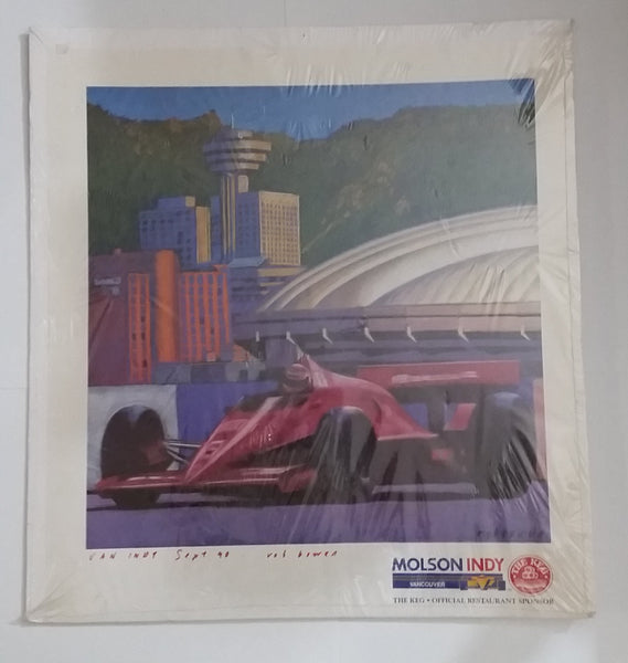 Rare 1990 Vancouver Molson Indy Racing Race Car Official Poster by Rob Bowen - The Keg Steakhouse - Treasure Valley Antiques & Collectibles