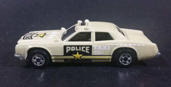 1989 Hot Wheels Color Racers Highway Patrol Dodge Monaco Pea Soup Brown Green Die Cast Toy Car Police Star Taxi Emergency Vehicle - Treasure Valley Antiques & Collectibles