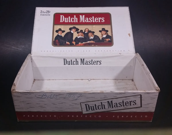 Vintage Dutch Masters Perfecto 50 Count 2 for 25¢ Cigar Box - Glaser Bros. - Consolidated Cigar Corporation - Treasure Valley Antiques & Collectibles