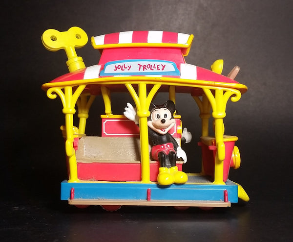 Vintage Disneyland Toontown Jolly Trolley Mickey & Minnie Friction Toy Vehicle - Treasure Valley Antiques & Collectibles