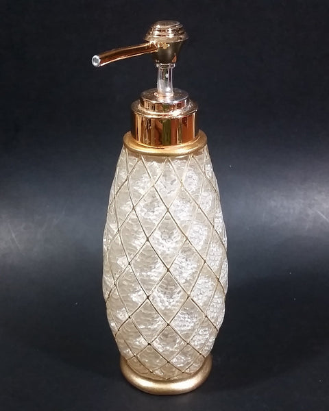 Donna Vista Lotion Dispenser - Faux Crystal Resin With Gold Look Highlights - Bathroom Decor - Treasure Valley Antiques & Collectibles