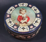 Vintage 1950s Peek Frean's Biscuits Tin with Portrait of French Boy Holding Dog by C. Bremont - Treasure Valley Antiques & Collectibles