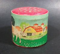 "Vintage ""Cows In The Clover"" Moo Can Noisemaker ~Not working~ - Treasure Valley Antiques & Collectibles"
