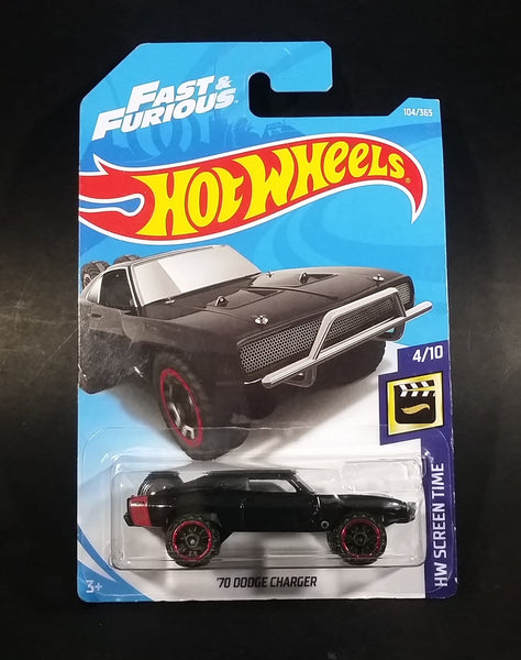 2018 Hot Wheels HW Screen Time '70 Dodge Charger Black Die Cast Toy Muscle Car Vehicle 104/365 - New Sealed - Treasure Valley Antiques & Collectibles