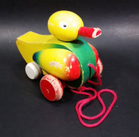 Vintage Wooden Duck Pull Toy - Treasure Valley Antiques & Collectibles