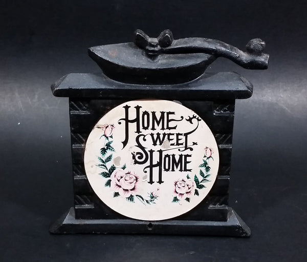 "Vintage ""Home Sweet Home"" 2D Coffee Grinder Shaped Cast Iron Napkin Holder - Treasure Valley Antiques & Collectibles"