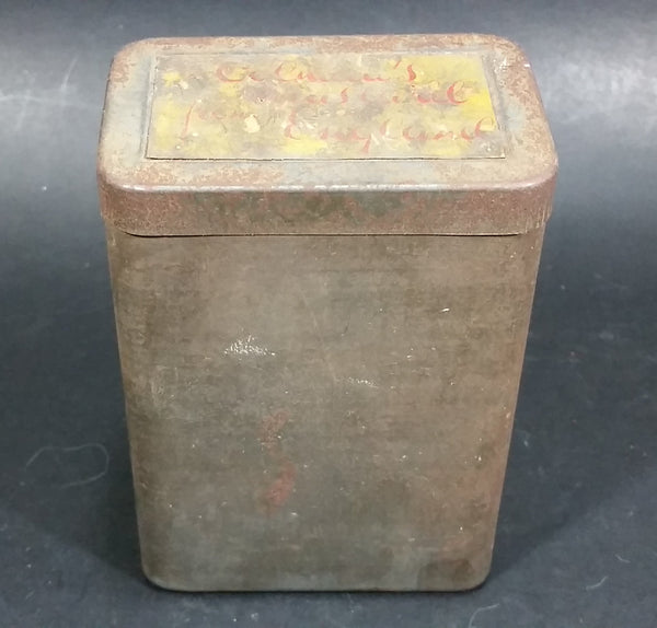 Antique Early Colman's Lidded Dry Mustard Tin No Label on the outside. Label On Top