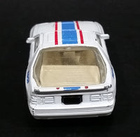 1988 Maisto Mazda RX-7 Turbo #33 White w/ Blue & Red Stripes Die Cast Toy Car Vehicle - Treasure Valley Antiques & Collectibles