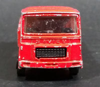 1980s Majorette Saviem Toy Truck Red Die Cast Toy Car Vehicle 1/100 Scale