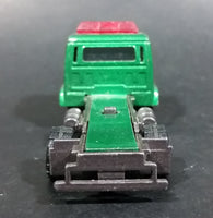 2000 Matchbox Isuzu Flatbed Towing Truck Green Die Cast Toy Car Vehicle - Rare Color - Flatbed Missing - Treasure Valley Antiques & Collectibles