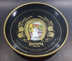 "Vintage Olympia Beer ""It's The Water"" Round Dark Blue Waterfall Tumwater Beverage Good Luck Serving Tray"