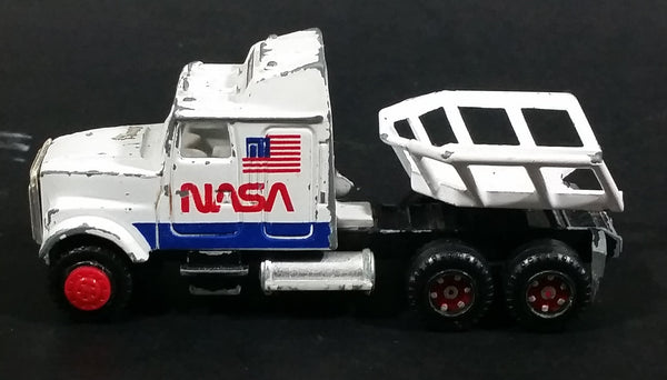 Vintage Majorette NASA White Semi Tractor Truck Rocket Hauler 1/87 Scale Die Cast Toy Car Vehicle - Treasure Valley Antiques & Collectibles