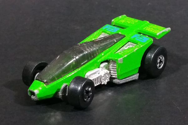 1992 Hot Wheels Shadow Jet F-3 Inter Cooled Green Die Cast Toy Race Car Vehicle - Treasure Valley Antiques & Collectibles