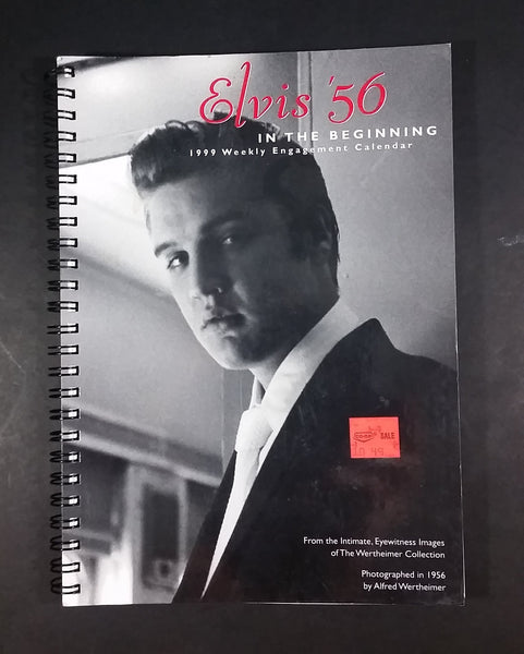 Elvis '56 In The Beginning 1999 Weekly Engagement Calender - Alfred Wertheimer - American Greetings -  Never Used Collectible - Treasure Valley Antiques & Collectibles