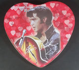 2002 Russell Stover Pink and Red Heart Shaped Elvis Presley Assorted Chocolates Tin Container - Treasure Valley Antiques & Collectibles
