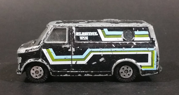 Vintage Yatming Delightful Van Black w/ Graphics Die Cast Toy Car Vehicle No. 899 - Treasure Valley Antiques & Collectibles