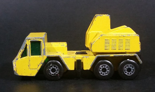 1976 Matchbox Superfast Lesney Products Yellow Crane Truck No. 49 - Made in England - Treasure Valley Antiques & Collectibles