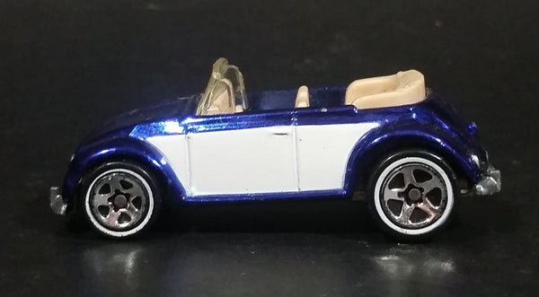 2006 Hot Wheels Classics Series 2 Volkswagen Beetle Convertible Spectraflame Blue Die Cast Toy Car Vehicle - Treasure Valley Antiques & Collectibles