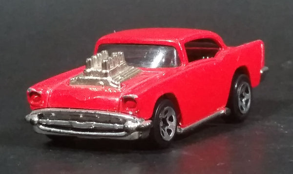 Very Rare 1999 Hot Wheels Arco Hauler '57 Chevy Exposed Engine Limited Edition Red Die Cast Toy Car Hot Rod Vehicle - Treasure Valley Antiques & Collectibles