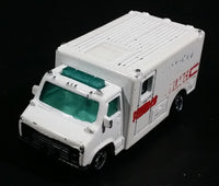 1989 Hot Wheels Workhorses American Ambulance White Die Cast Toy Car Emergency Paramedics Rescue Vehicle - Opening Rear Doors - Treasure Valley Antiques & Collectibles