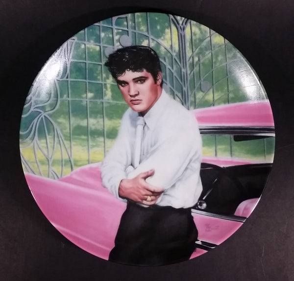"1988 Delphi Elvis Presley Looking At A Legend Limited Edition Collector Plate 1 ""Elvis at the Gates of Graceland"""