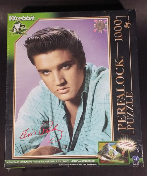 Wrebbit Elvis Presely Love me Tender Perflock 1000 Piece Puzzle In Box Sealed Never Opened - Treasure Valley Antiques & Collectibles