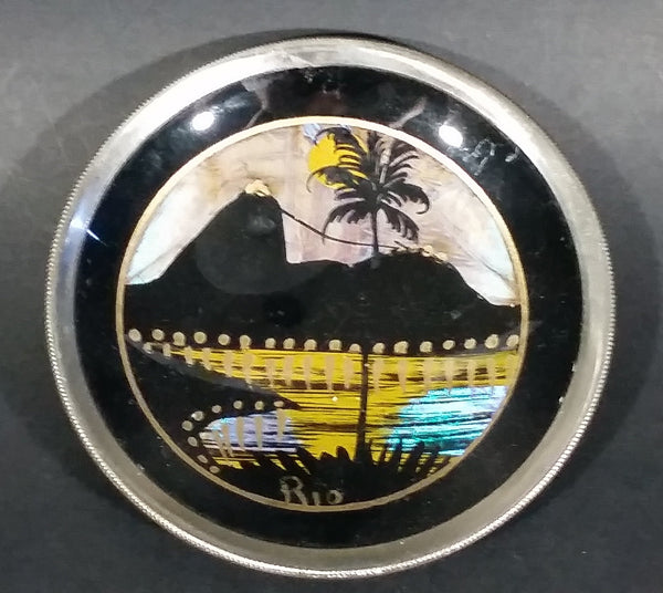 Vintage 1960s Rio Souvenir Pin Dish (Butterfly Wing) - Treasure Valley Antiques & Collectibles