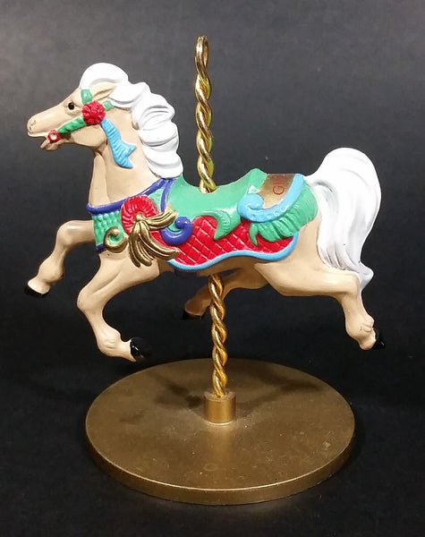 "1989 Hallmark Cards 3"" Carousel Horse ""Ginger"" 4/4 Decorative Christmas Ornament - Treasure Valley Antiques & Collectibles"