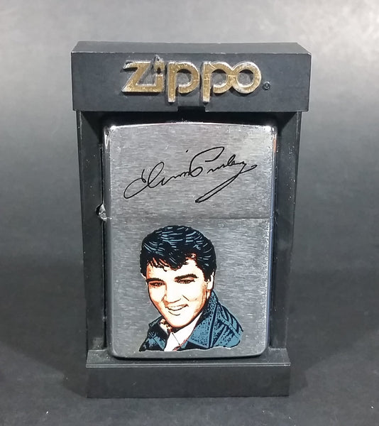 Vintage Collectible 1989 Elvis Presley Zippo Lighter in Black Case - Never Used - Like New - Treasure Valley Antiques & Collectibles