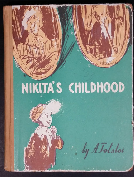 Vintage Nikita's Childhood Hard Cover Book - Soviet Literature For Young People - Alexei Tolstoi - Treasure Valley Antiques & Collectibles