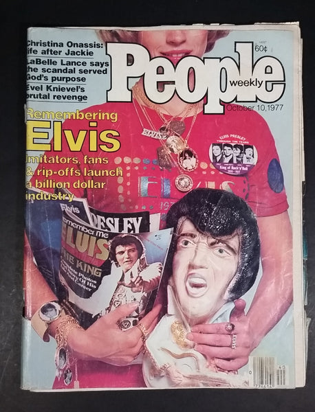 Vintage People Weekly Issue October 10, 1977 10/10/77 Elvis Presley, Evil Knievel Beverly Johnson - Treasure Valley Antiques & Collectibles