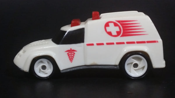 1997 Hot Wheels Ambulance White Die Cast Toy Car Emergency Vehicle - McDonald's Happy Meal