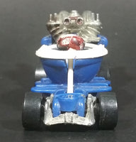 2000 Hot Wheels Virtual Collection Hot Seat Blue and White Die Cast Toy Car Vehicle - Treasure Valley Antiques & Collectibles