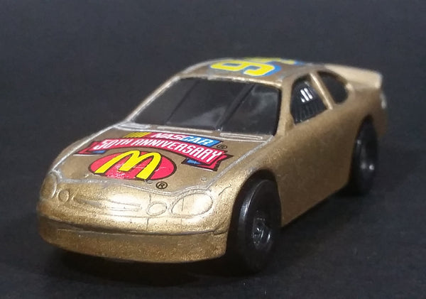 1998 Hot Wheels NASCAR 50th Anniversary #94 Bill Elliot 8/8 Gold Die Cast Toy Race Car Vehicle McDonald's Happy Meal - Treasure Valley Antiques & Collectibles