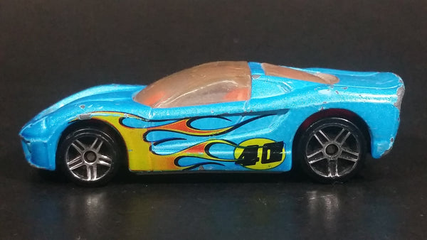 2009 Hot Wheels Airshot Super Drop 40 Somethin' Light Satin Blue Die Cast Toy Car Vehicle