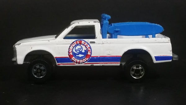 Rare 1983 Hot Wheels Sandee Beach Patrol White Truck Die Cast Toy Car Vehicle - Made in France