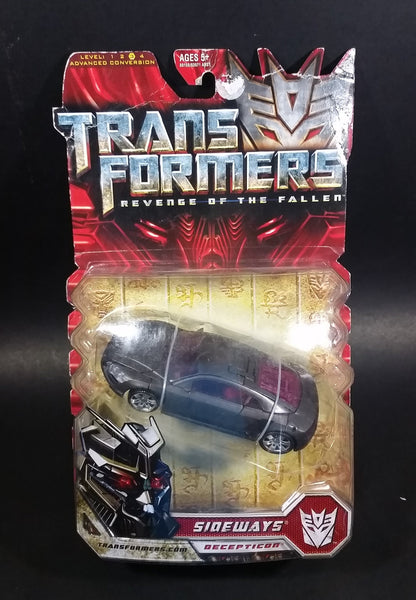 2009 Transformers Revenge of the Fallen Sideways Decepticon Grey Sports Car Vehicle Still in Package Never Opened