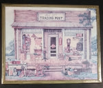"Vintage Kay Lamb Shannon ""Uncle Joe's Trading Post"" Country Scene Coca-Cola Crown Cola 8 x 10 Framed Print"