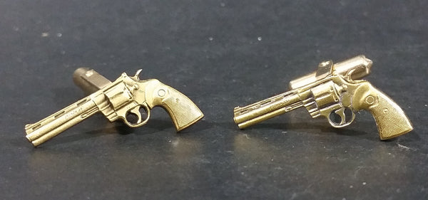 Vintage Collectible Colt Python 357 Gold Gun Cufflinks