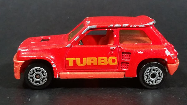 Vintage Majorette No. 255 Renault R 5 Turbo Red 1:53 Scale Die Cast Toy Car Vehicle