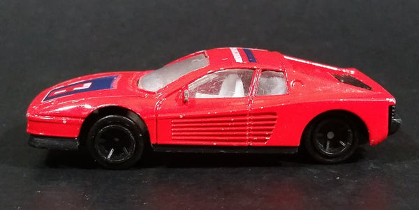 Unknown Brand Red Ferrari Testarossa 7 Seven Die Cast Toy Car Vehicle - Made in China