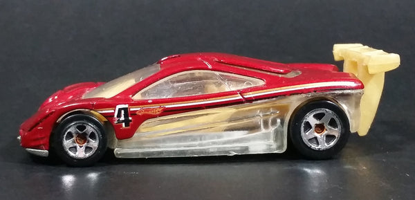 2008 Hot Wheels Top Speed GT Prototype 12 Metalflake Red Die Cast Toy Car Vehicle