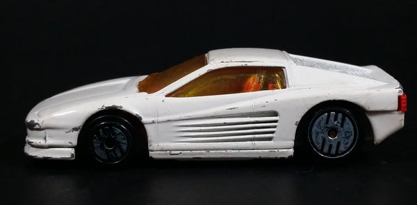 1987 Hot Wheels Ferrari Testarossa White Die Cast Toy Car Vehicle - Ultra Hots
