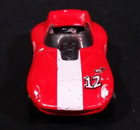 1998 Hot Wheels First Editions Cat-A-Pult Red White Die Cast Toy Race Car Vehicle