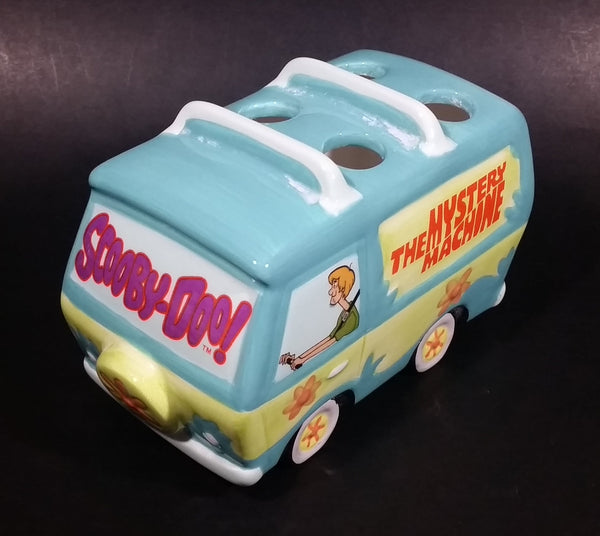 1999 Hanna Barbera Scooby-Doo! The Mystery Machine Van Shaped Ceramic Toothbrush Holder - Treasure Valley Antiques & Collectibles