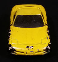 1998 Matchbox 1997 Chevrolet Corvette Yellow Die Cast Toy Race Car Vehicle - Treasure Valley Antiques & Collectibles